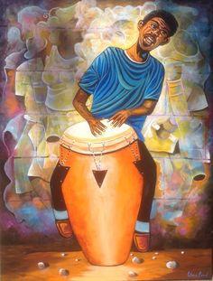 Haitian Art Gallery by Patrice Piard African American Artist, African Art, American Artists, Caribbean Art, Caribbean Culture, African Paintings, Haitian Art, Instruments, Music Artwork