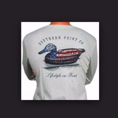 SOUTHERN POINT MENS SMALL LONG SLV T-SHIRT EUC AMERICAN FLAG DECOY HARD TO FIND! | Clothing, Shoes & Accessories, Men's Clothing, T-Shirts | eBay!