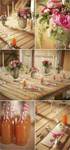 Fall wedding, with Alpine Spice wine served warm