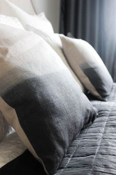 Diy: dip dyed pillows by NIMI Design