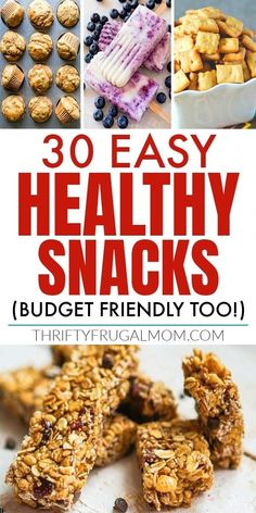 Need snack ideas? Check out these easy, healthy snacks that are not only simple to make but budget-friendly too! Delicious options that both kids and adults will love! #thriftyfrugalmom #cheapsnacks #healthysnacks Cheap Healthy Snacks, Healthy Chips, Nutritious Snacks, Savory Snacks, Healthy Fruits, Easy Snacks, Keto Snacks, Budget Recipes, Budget Meals
