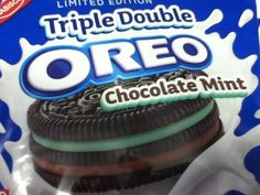 Limited edition OREOS triple double CHOCOLATE Mint.- 2 pkgs  Yum, Yum esp dipped in chocolate