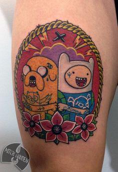 inspire-se-tatuagens-adventure-time-hora-de-aventura-tattoos2-chá-com-cupcakes