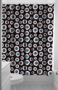 Image of Eye Ball Shower Curtain For bathroom at halloween!!