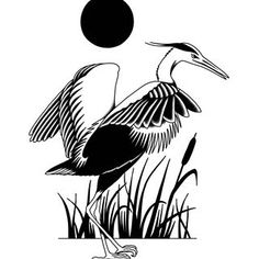 Big back piece idea. Crane amongst some reeds.   For bookings or inquiries DM or email honourtattoo@gmail.com