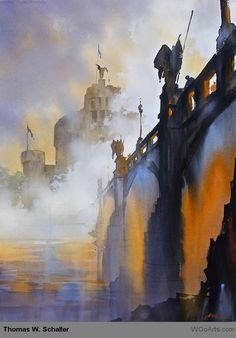 watercolor painting by artist thomas w. schaller USA at wooarts-007