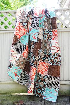 I love this picnic throw rag quilt...   WestCoastQuilts is from Coquitlam and she has great quilts