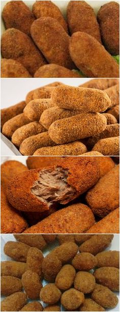 ESSE É O MELHOR CROQUETE!! APRENDA A FAZER VEJA AQUI>>>600 g de carne moída 2 colheres (sopa) de azeite extra virgem 3 dentes de alho picados #MASSAS#CROQUETEDECARNE# Dutch Recipes, Chef Recipes, Cooking Recipes, Appetizer Salads, Appetizers, Best Chef, Food For Thought, Sweet Potato, Bacon