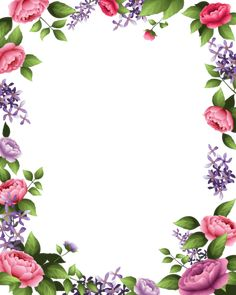 Changing The Look Of Your Home With Vintage Posters - Popular Vintage Flower Boxes, Flower Frame, Tropical Flowers, Pink Flowers, Boarders And Frames, Page Borders Design, Photo Frame Design, Phone Screen Wallpaper, Floral Hoops