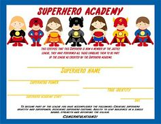 Awesome ideas for students to do to earn a superhero certificate~Great 1st day ideas!