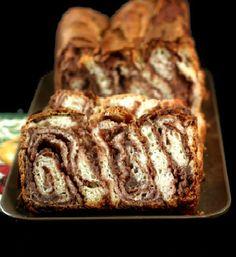 Chocolate Nut Povitica, an Eastern European bread.