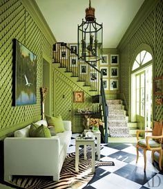 Find home décor inspiration at Architectural Digest. Everything you'll need to design each and every room in your house, from the kitchen to the master suite. Home Interior, Interior And Exterior, Interior Decorating, Interior Walls, Decorating Ideas, 1960s Interior Design, Chinese Interior, Colorful Interior Design, Design Interiors