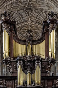 Kings College Organ in Cambridge