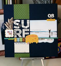 Surf Memories - interesting color palette for a beach themed page