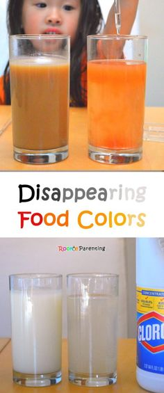 Food Color Disappear | Bleach | Chemical Reaction Experiment