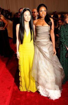 Vera Wang and Jennifer Hudson at the Met Gala in 2011