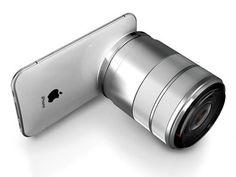 amazing metallic 3D camera as tech gadget for iPhone Pro | smartphones & camera . Smartphones & Kameras . smartphones & caméras | Design: Jinyoung Choi @ Yanko Design