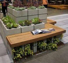 Cinder Blocks Garden Decor