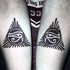 50 Eye Of Horus Tattoo Designs For Men - Egyptian Hieroglyph Ink