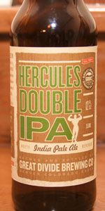 Hercules Double IPA   Great Divide Brewing Company   Denver, CO A little too strong for Dana