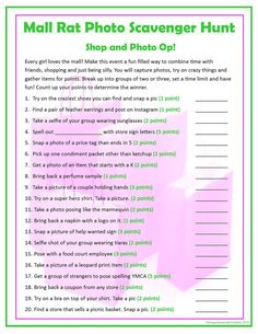 Super birthday party games for teens sleepover mall scavenger hunt Ideas Picture Scavenger Hunts, Scavenger Hunt Birthday, Scavenger Hunt For Kids, Funny Scavenger Hunt Ideas, Mall Birthday Party, Birthday Party For Teens, Birthday Fun, 12th Birthday, Birthday Ideas