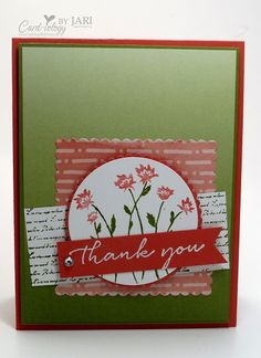 Stampin' Up! Background Bits-Cardiology by Jari - SU - Hostess Set Appreciation Quotes, Stampin Up Catalog, Making Greeting Cards, Card Io, Card Sketches, Stamping Up, Flower Cards, Scrapbook Cards, Hostess Gifts