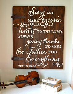 This blog has GORGEOUS custom-made signs.  Above piano???