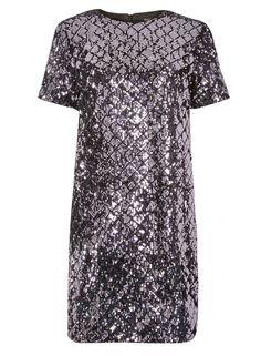 3fab183256d Purple Diamond Sequin Embellished Shift Dress. dorothyperkins.com