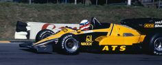 Manfred Winkelhock (GER) (Team ATS), ATS D6 - BMW Straight-4 (finished 8th)  1983 European Grand Prix, Brands Hatch