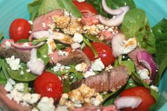 Steak and Blue Cheese Salad   Recipes We Love