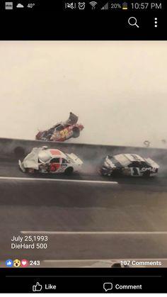 Nascar Crash, Nascar Racing, Drag Racing, Nascar Wrecks, Car Pictures, Car Pics, Vintage Racing, Cool Cars, Race Cars