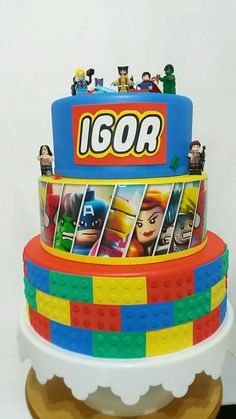 60+ Ideias Criativas de Bolo Lego para se Inspirar #BoloLego #Bolo #Lego #BoloDecorado #FestaLego #LegoCake Bolo Lego, Cake, Desserts, Cake Ideas, Avengers, Decorating Cakes, Diy Creative Ideas, Creativity, Model
