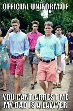 BAHAHAHA! Frat boy uniform!