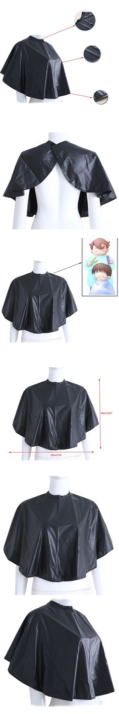 2017 New Short Square Haircut Cape Gown Cloth Waterproof Barber Salon Hairdressing Black Hair Cutting Tools Unisex Hair Care
