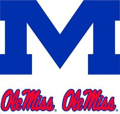 #oBedding - #Trademarx Wall Decor NCAA Ole Miss Rebels Wall Accent - 3 College Mural Stickers - AdoreWe.com