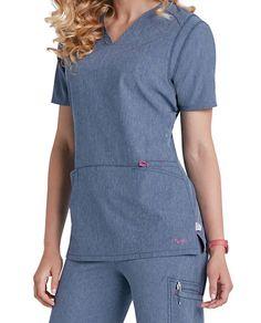 Smitten Magic Rock Goddess V-neck Scrub Tops Main Image Medical Uniforms, Work Uniforms, Scrubs Pattern, Stylish Scrubs, Scrubs Uniform, Spa Uniform, Cute Scrubs, Medical Scrubs, Scrub Pants