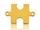 Vergoldete Verbinder Puzzle Silber 925