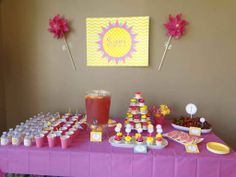 Fun Party Theme: Sunshine and Lemonade Birthday Party  - #kidsparty