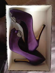 Wedding Heels Loose The Open Toe And They Could Be Turned White For Bride Purple ShoesWedding