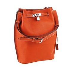 Hermes Birkin Drawstring Orange