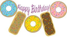 Donut-banner from donut printables at Mandy's Party Printables | mandyspartyprintables.com