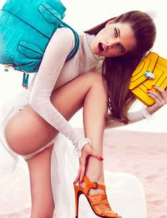 Fashion Model Barbara Palvin, Vogue, Style inspiration, Fashion photography, Long hair