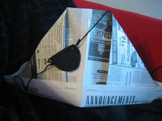 Make a newspaper hat and an eye patch for a Pirate Day!