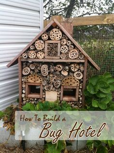 This homemade bug hotel is not only a wonderful winter habitat for beneficial insects, including bees and ladybugs, it also doubles up as a beautiful piece