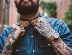 #mensstyle #mensfashion #mensstreetstyle #streetstyle #streetfashion #fashion #style #outfit #tattoos #beard #woodenbowtie