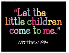"""Let the Children Come to Me"" bible print for framing"