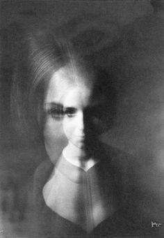 Philippe Halsman - Visage superposé, 1967. S)