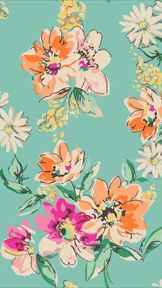 Flower Wallpaper, Cool Wallpaper, Wallpaper Backgrounds, Bathroom Wallpaper, Floral Wallpaper Iphone, Iphone Wallpapers, Floral Wallpapers, Pretty Phone Backgrounds, Floral Pattern Wallpaper