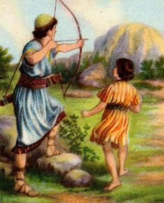 And Saul spoke to Jonathan his son and to all his servants, that they should kill David. But Jonathan the son of Saul loved D. Bible Story Book, Bible Stories, Childrens Bible Songs, David Bible, David And Jonathan, Sermon Illustrations, Oldest Bible, Bible Pictures, King David