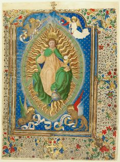 Leaf from a missal; Antoine de Lonhy (French, active about 1460 - about 1490); Toulouse, France; about 1460; Tempera colors, gold leaf, and gold paint on parchment; Leaf: 34.5 × 25 cm (13 9/16 × 9 13/16 in.); Ms. 69; Gift of the Emerson Family in honor of John S. Bonnell; J. Paul Getty Museum, Los Angeles, California